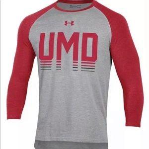 Under Armour Maryland Football Raglan Shirt New